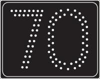 A3 Maximumsnelheid 70 km/u - Elektronisch bord