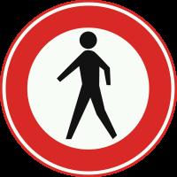 C16 Gesloten voor voetgangers