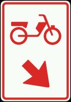 D103 Verwijzing voor bromfietsers naar een fiets- bromfietspad