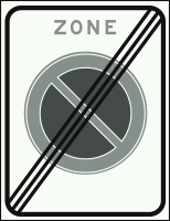 E01ZE Einde parkeerverbodzone