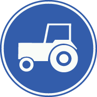 F11 Verplicht gebruik passeerstrook (rijstrook om ingehaald te kunnen worden), uitsluitend bestemd voor motorvoertuigen die niet sneller kunnen of mogen rijden dan 25 km-u