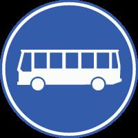 F13 Rijbaan of –strook uitsluitend ten behoeve van lijnbussen en voor andere voertuigen die een ontheffing hebben (zoals taxi's). Verboden voor alle andere voertuigen