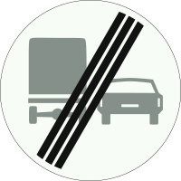 F4 Einde verbod voor vrachtauto's om motorvoertuigen in te halen