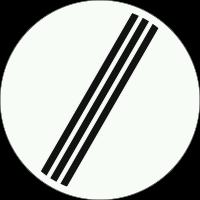F8 Einde van alle door verkeersborden aangegeven verboden