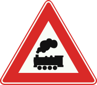 J11 Spoorwegoverweg zonder overwegbomen