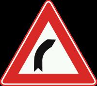 J2 Bocht naar rechts