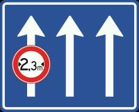 L11 Verkeersbord geldt alleen voor de aangegeven rijstrook-stroken