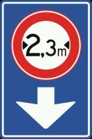 L12 Verkeersbord geldt alleen voor de aangegeven rijstrook